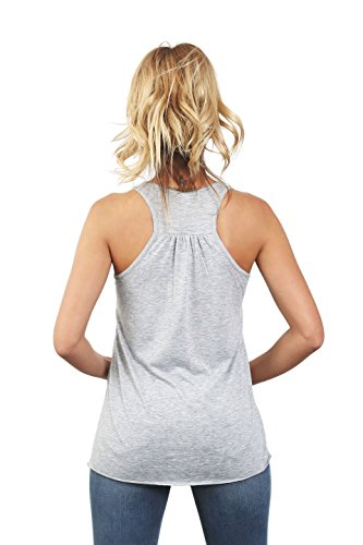 I Only Love My Bed and My Dog I'm Sorry Women's Fashion Sleeveless Flowy Racerback Tank Top Sport Grey Small by Thread Tank (Image #3)