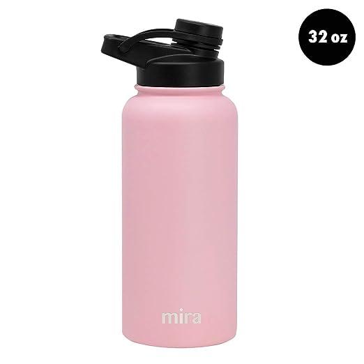 Mira Botella de Agua de Acero Inoxidable aislada para ...
