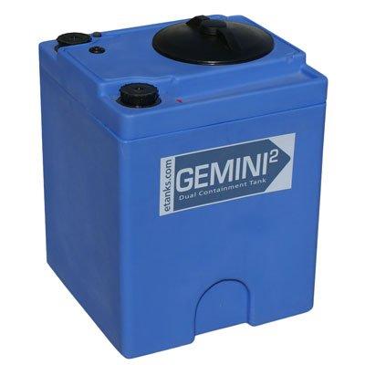 Gemini2 20 Gallon Blue Square Dual Containment Plastic Tank - 18