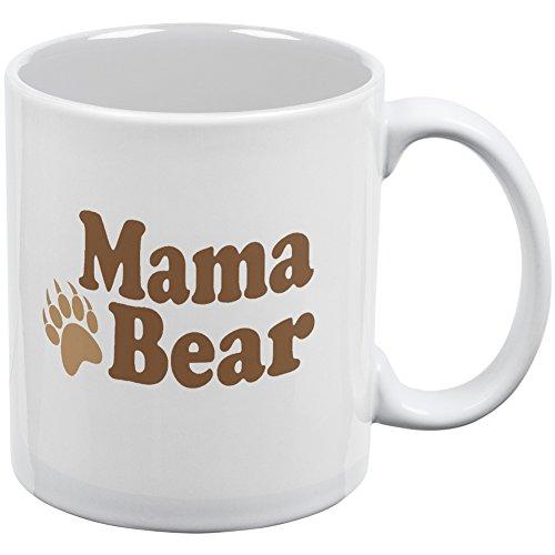 Mothers Day - Mama Bear White All Over Coffee Mug (Smokey The Bear Costume)
