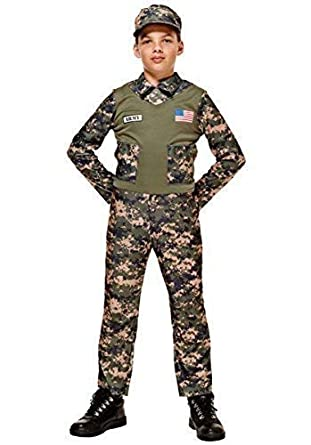 b16209f37 Amazon.com  Boys US American Army Soldier Uniform Military Fancy ...