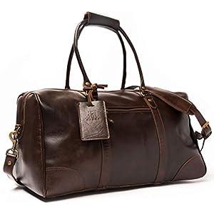 "HIDES 19"" Full Grain Overnight Leather Duffel Bag 2"