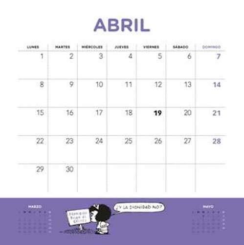 Mafalda 2019 Calendario de pared (Spanish Edition): Quino ...