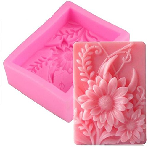 3D Sunflower Silicone Handmade Soap Molds, Chocolate Fondant Cake Decorating Tools, Bakeware Pan Craft Molds, Fimo Resin Resin Clay Candle Making Mold, Sugarcraft Decorating Mold, Muffin Baking Tool