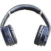 Flip-Out Headphones FM Radio Build-In Mic AUX Rechargeable BLACK