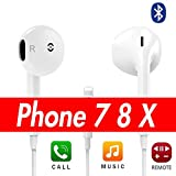 Earbuds, Ovov In-Ear Headphones/Earbuds with Microphone Stereo Earphones with Mic Noise Isolating Headsets Made Compatible for iPhone 7 8 X Plus (Bluet/ooth Connectivity)
