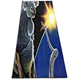 Yoga Mat Fantasy Bears Animals Unique 1/4-Inch Thick Exercise Mats For Pilates, Fitness & Workout