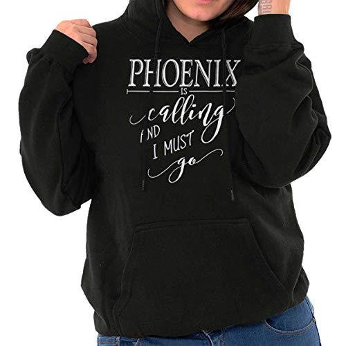 Phoenix, AZ is Calling I Must Go Home Womens Shirt State City Hoodie Sweatshirt Black - Fleece Phoenix Coyotes Sweatshirt
