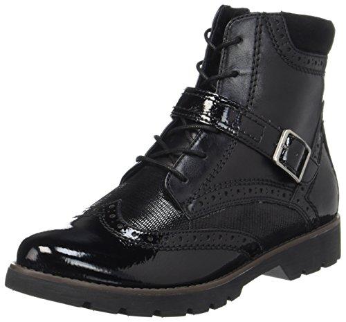 Jana Damen 25222 Combat Boots Schwarz (nero)