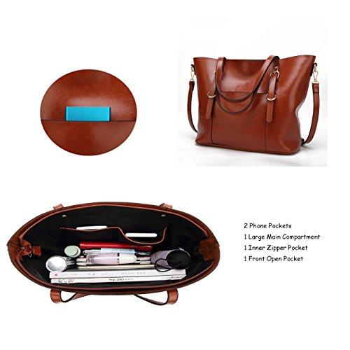 Handbag for Women Soft PU Leather Top Handle Satchel Clutch Purse Shoulder Bags for Lady by Jeniulet (Image #4)