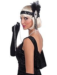 Forum Novelties Roaring 20's Deluxe Black and Silver Flapper Headband