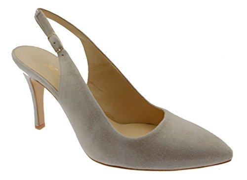 classico sling back dune sabbia art E1576 scarpa donna fondo cuoio