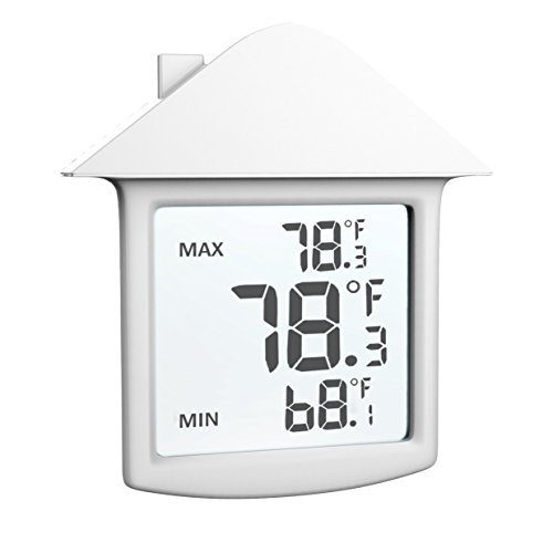 Indoor Thermometer - Digital Weather Temperature Thermostate - Home Monitoring Clock - A Gift for Mom