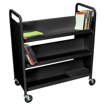 Luxor Book Truck (LUXOR BT6S37-B Book Truck, 3 Double Sides Shelves, 37