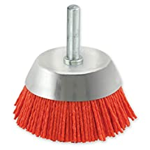 IVY Classic 39202 3-Inch x 1/4-Inch Round Shank, Nylon Abrasive Cup Brush - Coarse 80 Grit, 1/Card