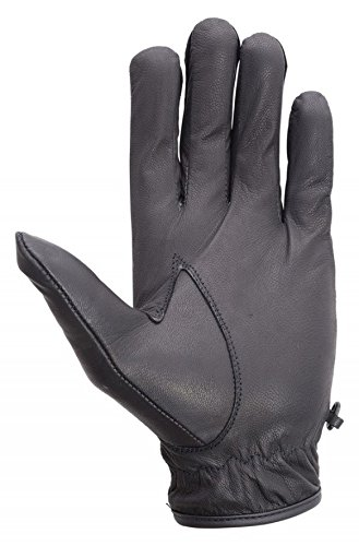 Wicked Stock Premium Aniline Leather Driving Cycling Dress Summer Gloves Black XX-Large