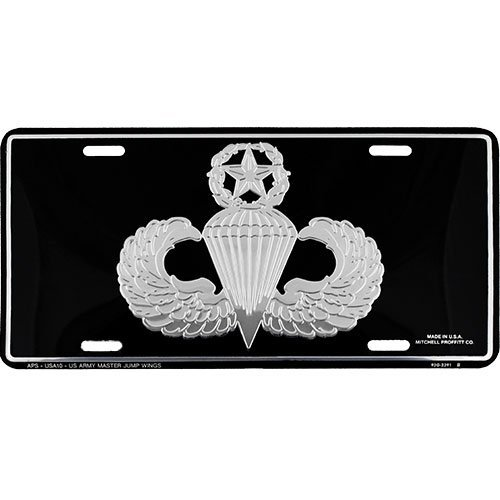 (U.S. Army Master Parachutist Jump Wings License Plate)