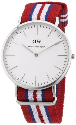 Daniel Wellington Classic Exeter White Dial SS Textile Quartz Men's Watch 0212DW