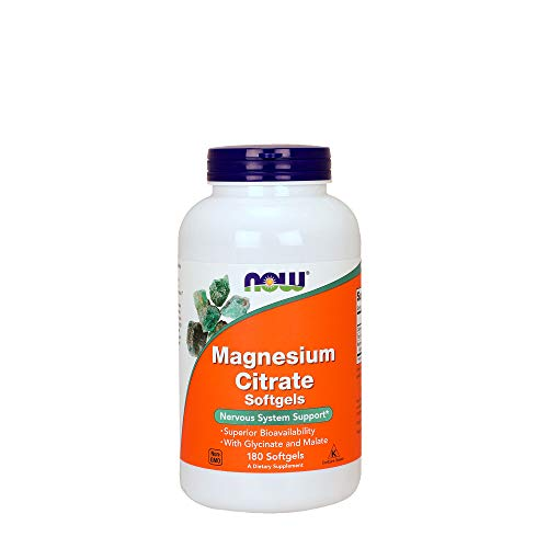 Magnesium Citrate 134mg Now Foods 180 Softgel