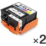 エプソン インクカートリッジ ICCL81 ( 4色 一体 タイプ ) ×2個 【インク革命製】 EPSON 用 互換 インク ic81 カラリオ PF-70 PF-81