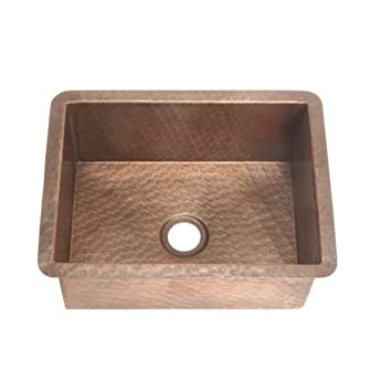 Belle Foret BFC4BARWC Copper Bar Sink, Weathered Copper