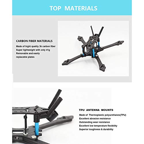 Wikiwand HGLRC Arrow 3 inch Hybrid Frame Kit Arm 4mm for FPV Racing Drone Frame Kit by Wikiwand (Image #5)