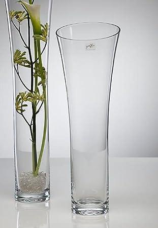 jarrn de cristal biselado suelo jarrn flores jarrn inclinado cristal grande cm