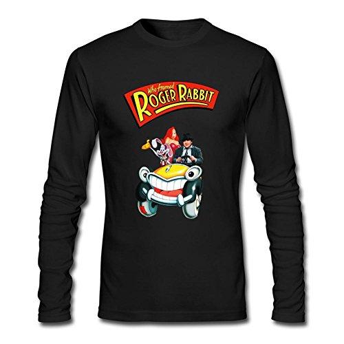 Newm Men's Who Framed Roger Rabbit Long Sleeve 100% Cotton T Shirt