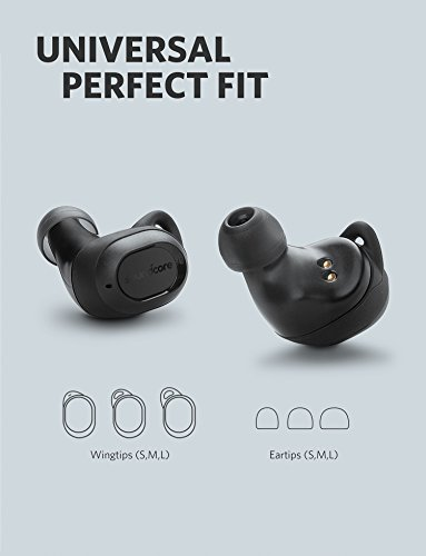 True-Wireless Earphones Soundcore Liberty Lite by Anker, Wireless Headphones with 12-Hour Playtime, Graphene-Enhanced Drivers, Microphone and Bluetooth 5