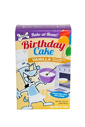 - Vanilla Birthday Cake Mix w/ Sprinkles & Frosting Mix for Dogs by Lazy Dog Cookie Co.