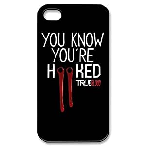 True Blood Vampire ~ Fashion Durable Unique RUBBER Durable Case Cover Skin for Apple iPhone 5 5S - Black Silicone Case / ABCone Tpu Protective 5/5S Case WANGJING JINDA