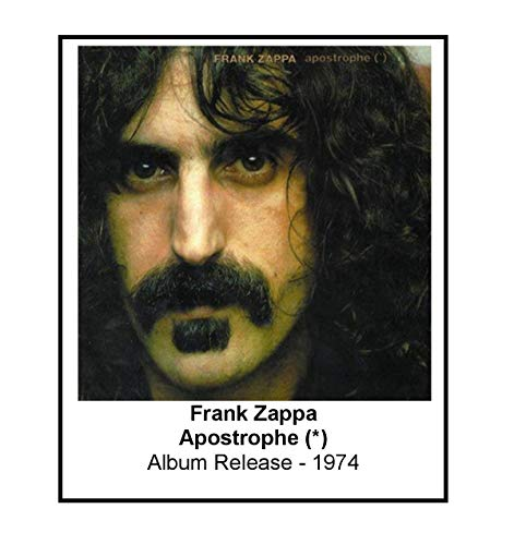Frank Zappa 1974 Apostrophe Album Cover 3