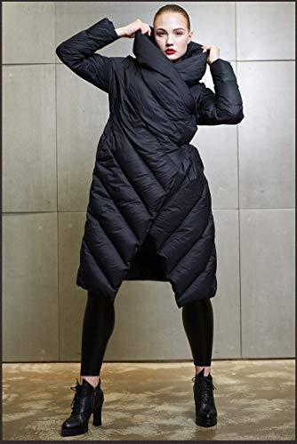 Jsix Plumas Para Chaqueta Mujer De Invierno Negro Clásico qq8ZwORKa