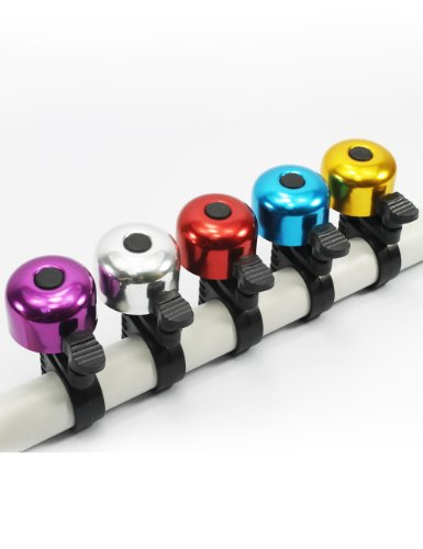 TOPCABIN Alloy Mini Bicycle Bell Ping Ring Lever Cycle Push Bike/Gold Blue Red Silver Purple Black