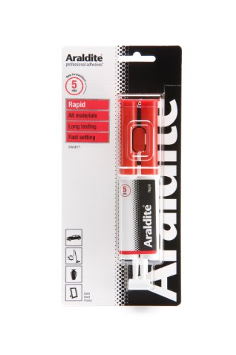 Araldite Rapid Strong Adhesive | 5 Minute Fast Setting 2-Part Epoxy Glue | Solvent-Free Professional Grade Strength for Multipurpose Use, 24ml Syringe