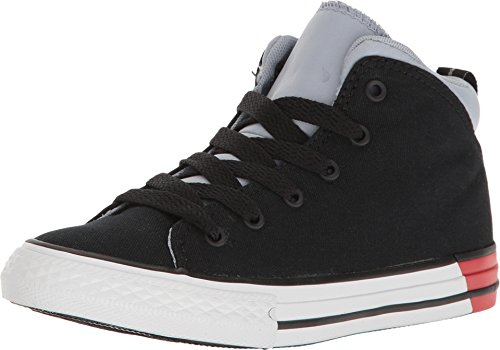Taylor All Star Official Mid Shoes (1 Little Kid M, Black/ Blue Granit) (Converse Boys Shoes)