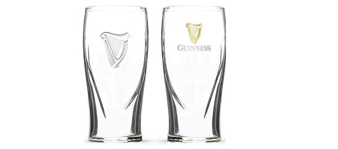 Guinness Irish Pint Beer Glasses 16oz - Set of 2