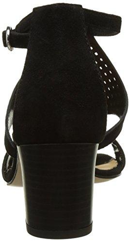 Donna Piu 52767 Eva, Sandalias con Tira a T para Mujer Noir (Camoscio Nero)