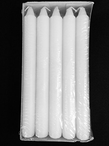 7 Inch Tall White Tapered Candles Burns 6 Hours - Set of - 7 Inch Candle
