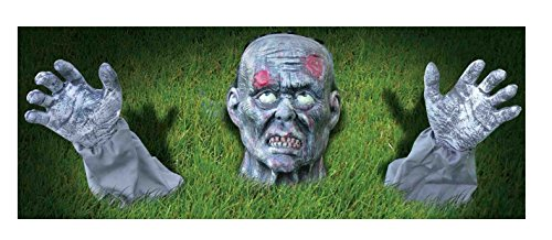 Forum Novelties 68765 Zombie Ground Breaker Lawn Decoration, Gray ()