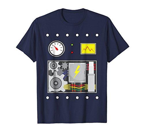 Robot Costume Halloween T-Shirt For Robot Fans, Men, -