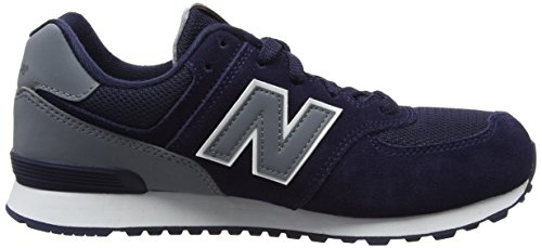 New Balance Unisex-Kinder 574 High Visibility Sneaker Blau (Navy)