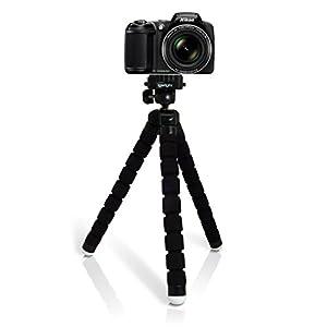 iGadgitz Large Universal Flexible Foam Mini Tripod for Nikon D Series SLR DSLR Cameras DSLR D1 D100 D1H D1X, D200 D2H D2HS D2X D2XS, D3 D300 D3000 D300S D3100 D3200 D3300 D3S