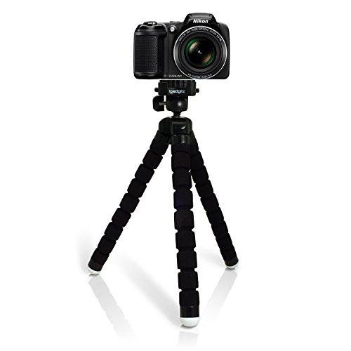 - iGadgitz Large Universal Flexible Foam Mini Tripod for Nikon D Series SLR DSLR Cameras DSLR D1 D100 D1H D1X, D200 D2H D2HS D2X D2XS, D3 D300 D3000 D300S D3100 D3200 D3300 D3S