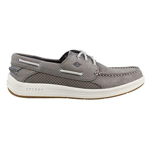 - SPERRY Men's Gamefish 3-Eye Boat Shoe, Grey, 9.5 M US