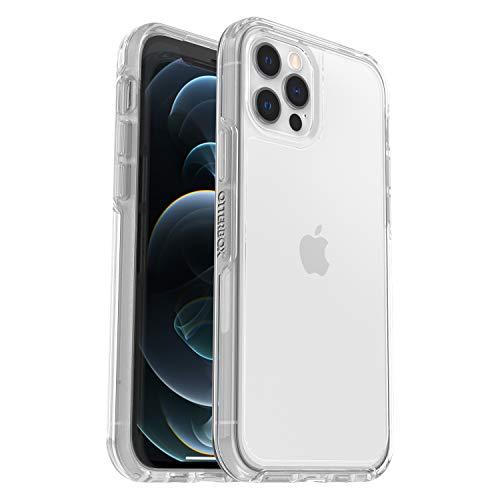OtterBox Symmetry Clear, funda anticaídas fina y elegante, para Apple iPhone 12/12 Pro, transparente