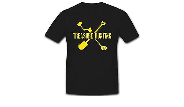 Copytec Treasure Hunting schatzsuche del tesoro Cazadores Detector de metales suelo Fund - Camiseta # 5534: Amazon.es: Ropa y accesorios