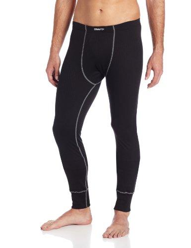 Craft Pro Zero Base - Craft Sportswear Men's Active Long Base Layer Pants: cooling/sport/bike/ski/run/sun/protection/bottoms, Black, Large