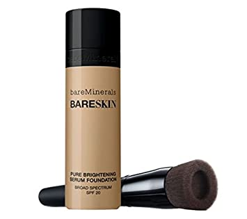 bareMinerals BARESKIN Kit Perfecting Face Brush and Pure Brightening Serum Foundation BARE BEIGE by Bare Escentuals