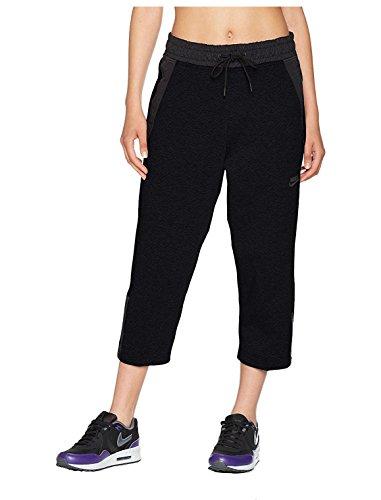 Nike Women's Sportswear Tech Fleece Cropped Sneaker Pants Black XS